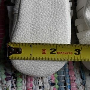 Shoes - 6.5 Baby Toddler White Bow Moccasins Minimalist
